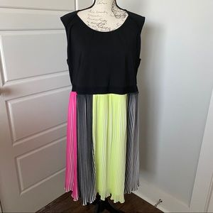 ModaMix colorful Pleated Skirt with Cotton Bodice
